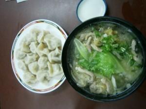 Soupe et raviolis Chinois