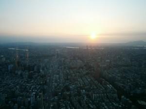 Coucher de soleil depuis la Taipei 101